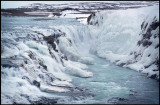 Gullfoss - queen of Icelandic waterfalls - not very powerful during winter