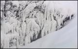 Frosty formations at Tännforsen
