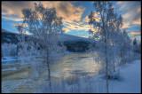 Svenningelva at dawn - Norway (HDR)