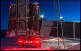 Adjusting the ramp for reindeer to enter truck - Rensjön