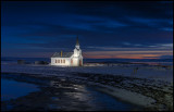 Nesseby church at Varanger fjord - Norway