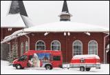 Visiting Santa in Rovaniemi - no reindeers in sight....
