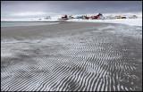 The beach at St Ekkeröya where waderbirds are plentiful in summer