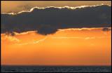 Sunset over Blekinge seen from Öland