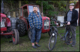Small exhibition of tractors in Slagerstad during Harvest Festival