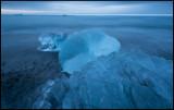 Ice formations on Jökulsarlon beach - Iceland