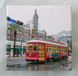 New Orleans Canvas Squares 4x4 inch