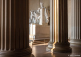 Lincoln between columns