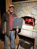 Mike and his new homemade oven 2600
