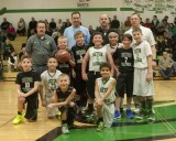 Saints boys youth basketball 5th grade 1/2 time show 01-16-2015
