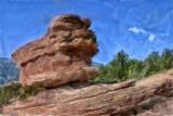 Balanced Rock Painted