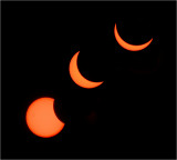 Solar Eclipse Sequence over Newport, South Wales