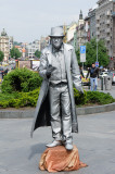 Living Statue in Wenceslas Square