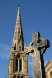 Ranmoor Church Spire and Celtic Cross