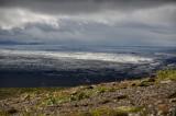 View on distant glacier