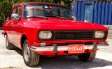 Red Moskvitch - Light-Red Licence-plate