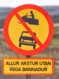 Driving off-road is not allowed