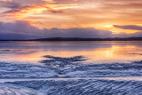 Winter Sunset on Mudflats