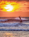 Doonbeg Sunset Surfer