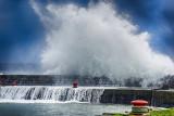 Storm Imogen meets Liscannor Harbour