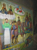 Some historical/religious paintings inside the church