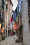 A cosy lane with laundry decorated