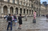 posing tourist
