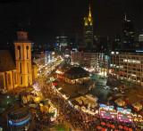 Part of the Christmas market in Frankfurt