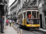 Tram in small lane