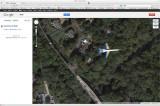 Google Satellite View Catches Jet