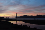 People at Crissy Field Sunset