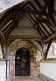 the porch - genuine C14th & Norman doorway