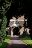 the porch from the lychgate