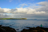 Nare head, Gull rock and Dodman Point from Portscatho