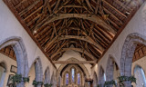 Colwall: Church of St James - C14th roof with cusped wind-braces