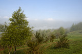 Malvern Hills with dispersing fog