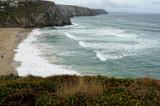 Porthtowan high tide