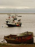 Boats off Orford harbour