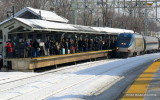 Disabled Amtrak Passenger Train / Milford CT / FEB 2014