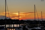 Sunset over marina
