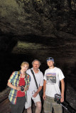 The Beaubien family enjoys a rare chance to walk the length of Natural Tunnel