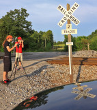 Aaron & Gage ready to shoot NS 168 at Jacobs Loop