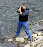 Tyler in the creek at Woodman, Ky to shoot the SR 630