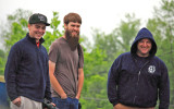 Gage, John and Joe in the rain at Wilmore, KY