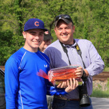 Gage and Chad and 10 pounds of frozen treats at Sherman, Ky