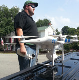 Mr. Starnes and his fancy flying camera at Lagrange Ky