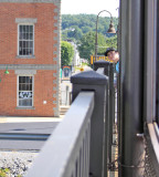Gage peers out from foamer jail at Gallitzin, Pa