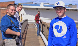Tyler, John, John, and Gage hanging out on a bridge we shouldnt be on in Ga