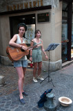Singing in the street