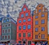 Old Stockholm, famous houses,  Sweden